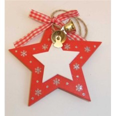 Украшение декоративное Красная звездочка