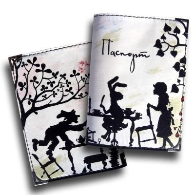 Обложка для паспорта «Безумное чаепитие»