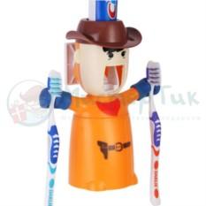 Держатель для зубных щеток и дозатор пасты Ковбой
