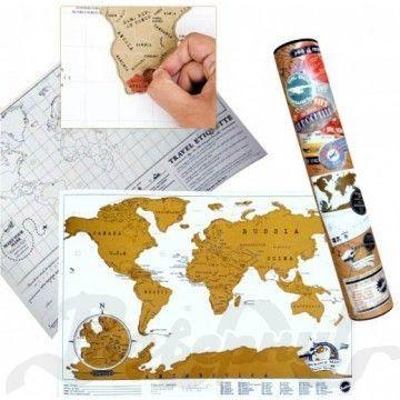 Карманная карта путешественника Scratch Map