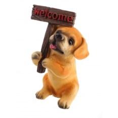 Декоративная фигурка с табличкой Welcome Собака
