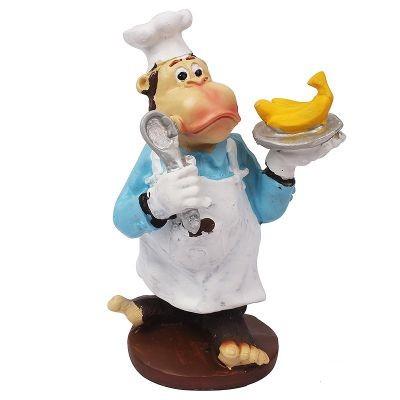 Декоративная статуэтка Обезьянка шеф-повар
