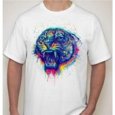 Футболка Тигр в краске