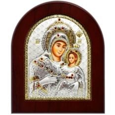 Вифлеемская икона Божьей Матери в серебрянном окладе.
