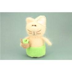 Мягкая игрушка Кот-банщик