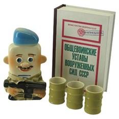 Штоф Десантник со стопками в футляре в виде книги