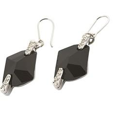 Серьги с кристаллами Swarovski Космик черные