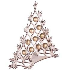Сборная елка с золотистыми шариками Новогодний ажур