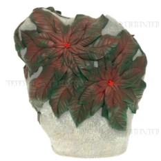 Декоративное садовое изделие Камень с зелеными листьями