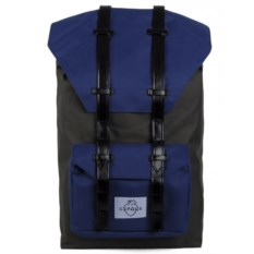 Большой серый с синим городской рюкзак Сердце