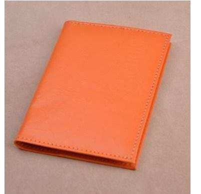 Обложка на паспорт «Оранжевый личи», коллекция Eclat (материал: кожа)
