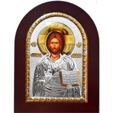 Икона Иисуса Христа в серебряном окладе