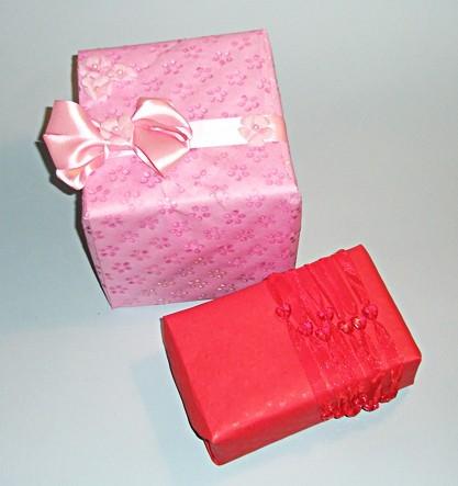 Романтичная подарочная упаковка
