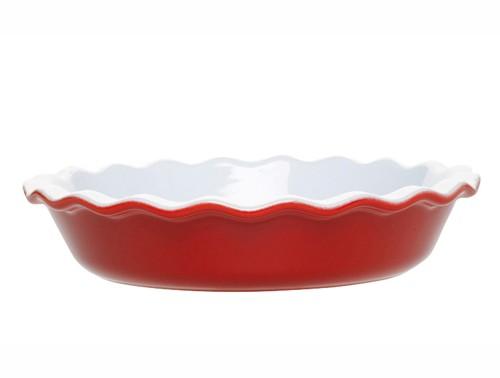 Блюдо для запекания, красное, керамика