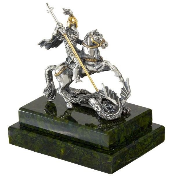 Сувенир серебряный Георгий Победоносец