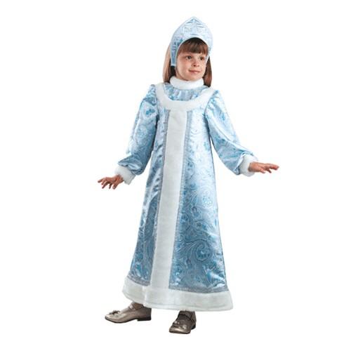 Карнавальный костюм Снегурочка шёлк