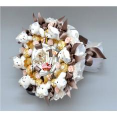 Букет из мягких игрушек и конфет Десерт