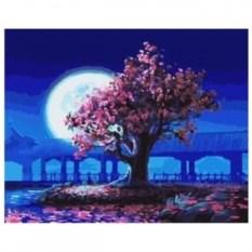 Картина-раскраска по номерам на холсте Розовые мечты