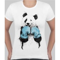 Женская футболка Панда боксер