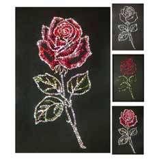 Хрустальная картина «Роза»