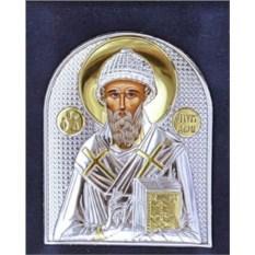 Маленькая серебряная икона Спиридон Тримифунтский