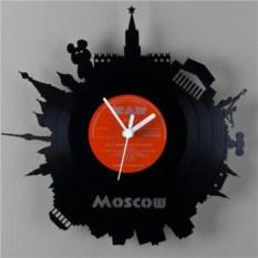 Часы из виниловой пластинки  Москва