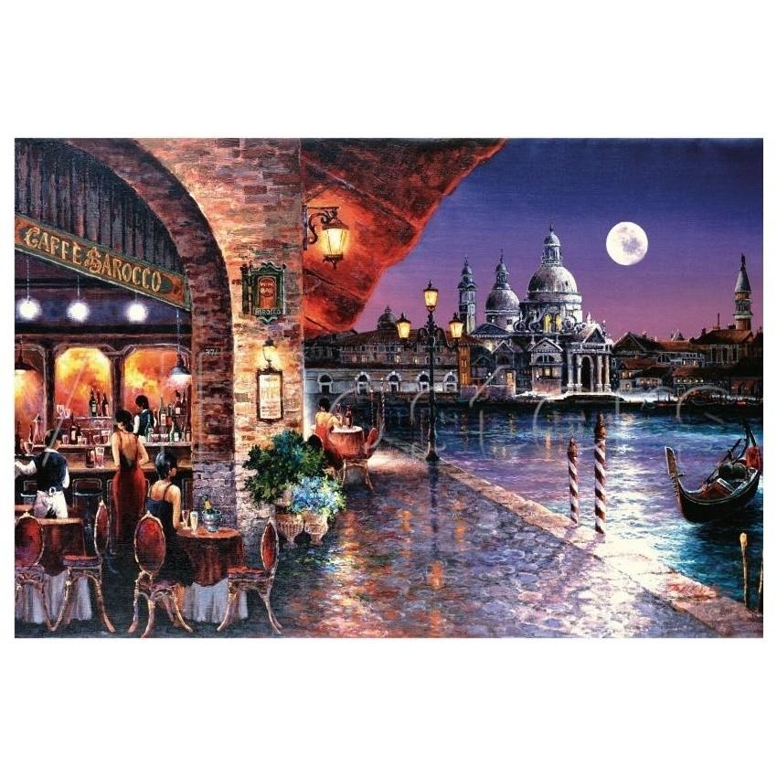 Картина-раскраска по номерам на холсте Кафе Барокко