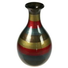 Декоративная ваза с разноцветными полосками