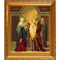 Икона на холсте Сретение Господне