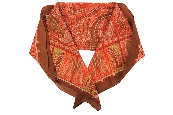 Красный женский платок Fabretti (шерсть)