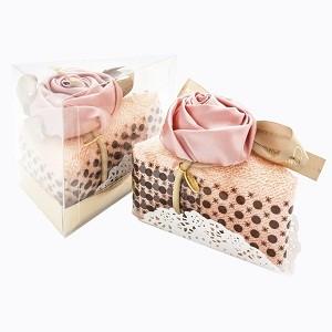 Столовое полотенце «Кусочек торта «Роза в розовой пудре»