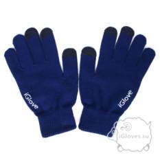 Синие перчатки для сенсорного экрана iGlove
