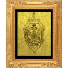 Гравюра из золота Герб ФСБ