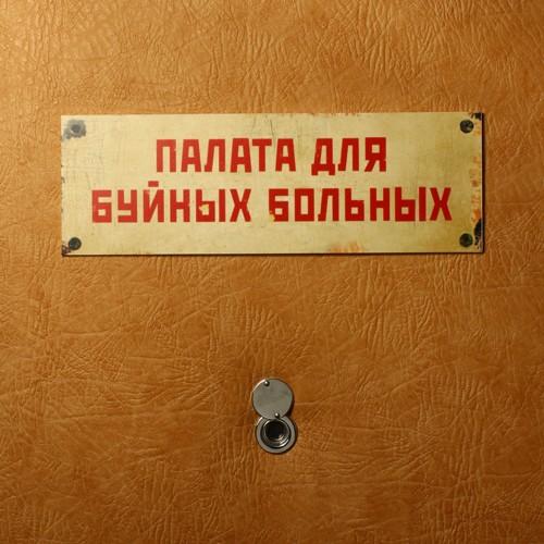 Табличка на дверь Палата для буйных больных