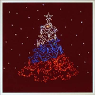 Картина Swarovski «Новогодняя ёлочка России»