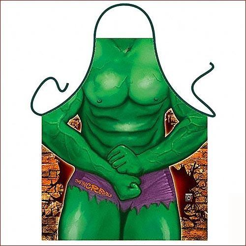 Фартук прикольный Зеленый человек