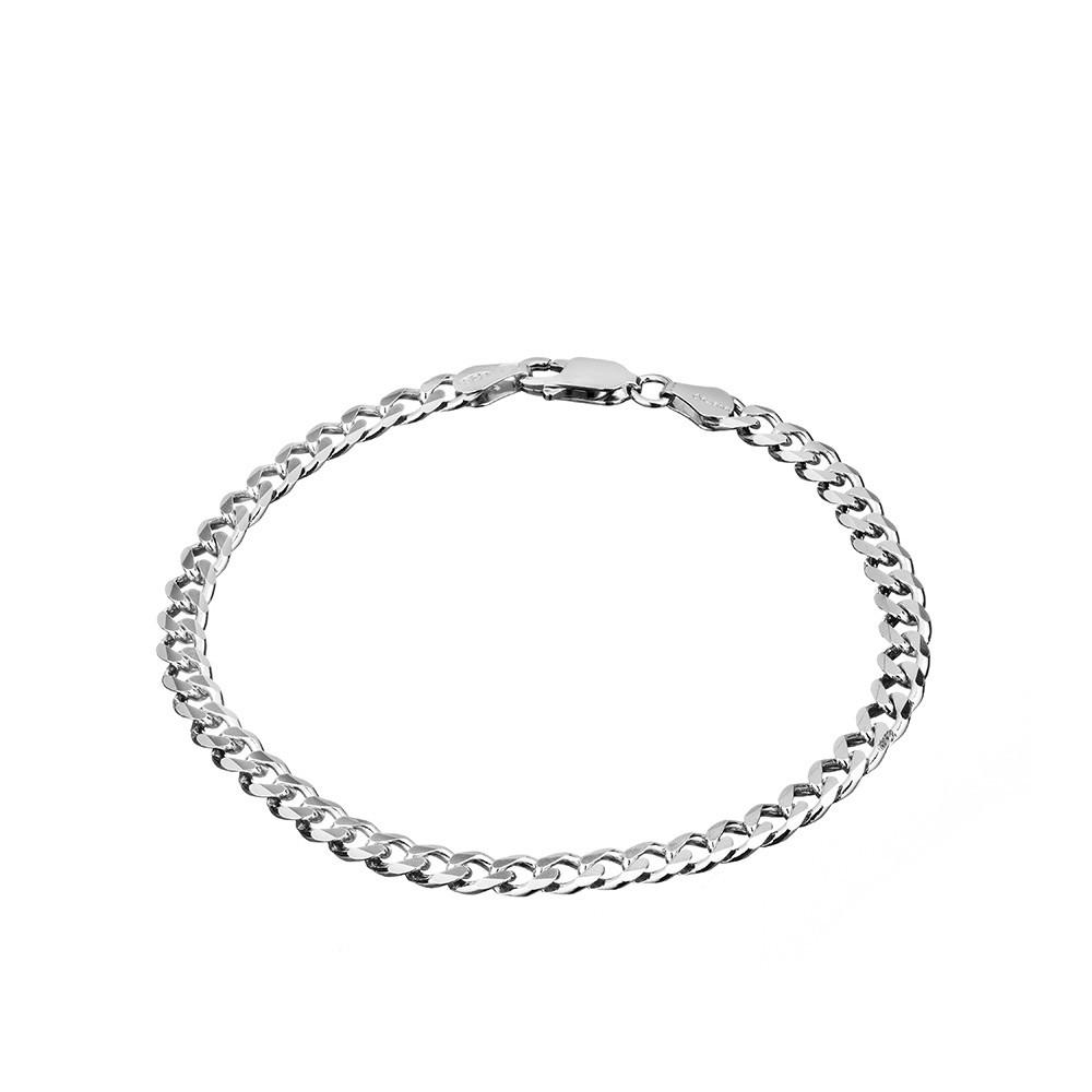 Мужской серебряный браслет с алмазной обработкой