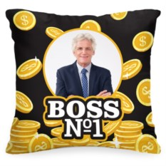 Подушка с вашим фото Boss #1