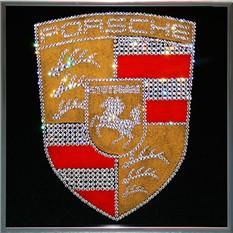 Картина с кристаллами Swarovski Porsche