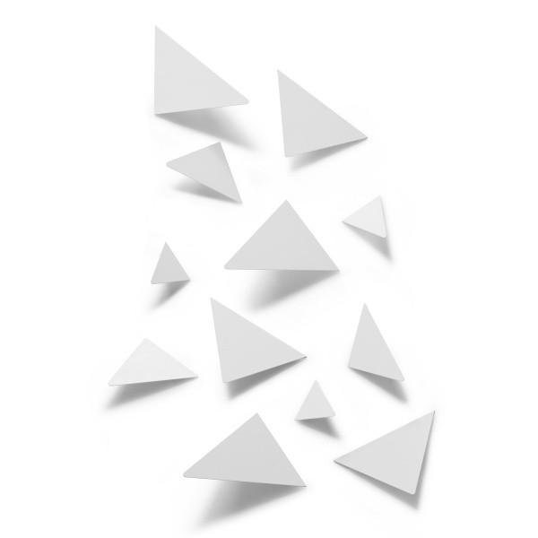 Декор для стен Facetta, 12 элементов, белый