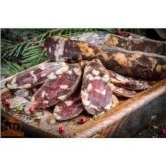 Домашняя колбаса из мяса оленя