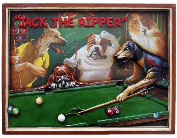 Панно Безумные собаки играют в бильярд