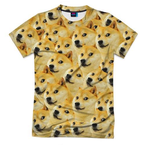 Мужская футболка 3D с полной запечаткой Doge
