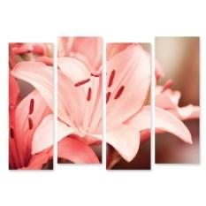 Модульная картина Розовая лилия