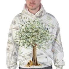 Мужская 3D толстовка Дерево из долларов