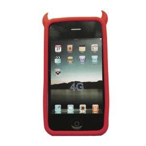 Чехол для iPhone 4 Чертик в красном