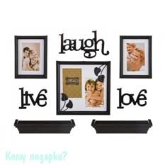 Подарочный фотонабор из 8 предметов Life, laugh, love
