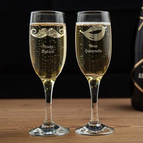 Бокалы для шампанского Стильная пара