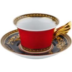 Чайная пара Medusa с красной чашкой
