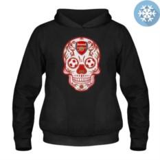 Утепленная толстовка-кенгуру Arsenal mexican skull